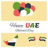 2 December. UAE Independence Day background in national flag color theme. 2 December. UAE Independence Day background in national flag color theme Royalty Free Stock Photography