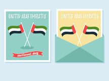 2 December. UAE Independence Day background with national flags. 2 December. UAE Independence Day background with national flags stock illustration
