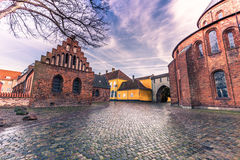 04 december, 2016: Vierkant bij de kathedraal van Heilige Luke in Rosk Royalty-vrije Stock Foto's