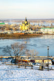 December view of Cathedral Nevsky Nizhny Novgorod Royalty Free Stock Photos