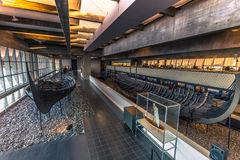 December 04, 2016: Viking ships inside the Viking Ship Museum of. December 04, 2016: Some Viking ships inside the Viking Ship Museum of Roskilde, Denmark Stock Image