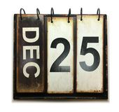 December 25. With vintage calendar on white background royalty free illustration