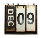 December 9. With vintage calendar on white background royalty free stock photo