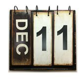 December 11. With vintage calendar on white background royalty free illustration