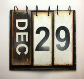 December 29. With vintage calendar royalty free stock photos