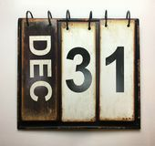 December 31. With vintage calendar stock photo