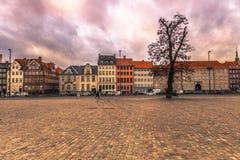 05 december, 2016: Voorgevel van typische Deense gebouwen in Copenha Royalty-vrije Stock Foto's