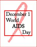 December 1 World AIDS Day. Banner December 1 World AIDS Day Vector Illustration