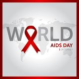 1 december world aids day concept design vector illustration stock illustration