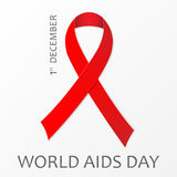 December World Aids Day poster. Vector illustration. 1 December World Aids Day poster. Vector illustration. Eps 10 Royalty Free Stock Images