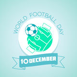 10 December world  football  day Royalty Free Stock Images