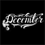 December& x27; 在传染媒介上写字的s月 库存照片