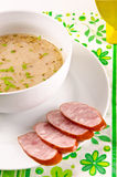 Decent Polish soup Stock Photo