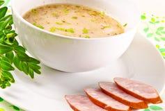 Decent Polish soup. Zurek is a decent Polish soup Stock Photos