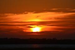 Decente lento del sol fotos de archivo