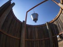 Toilet. Deception Camp, Central Kalahari Game Reserve, Botswana Stock Image