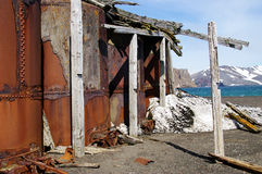 Deception Island Ruins - Antarctica Stock Photo