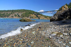 Deception Pass Beach. Beach at Deception Pass State Park Washington State royalty free stock images