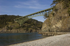 Deception Pass Bridge Royalty Free Stock Photo