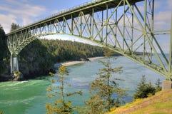 Deception pass bridge. Bridge in deception pass state park, Washington, USA royalty free stock photos