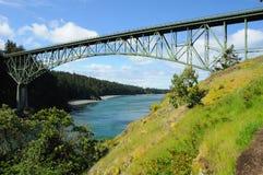 Deception pass bridge. Beautiful view of deception pass state park, whidbey island, washington, usa royalty free stock photos