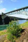 Deception pass bridge Stock Image