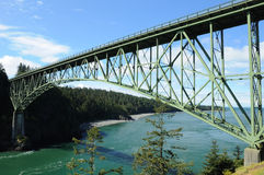 Deception pass bridge royalty free stock photography