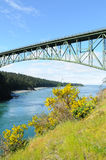Deception pass bridge Stock Images
