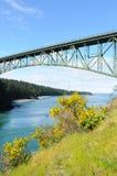 Deception pass bridge. Beautiful view of deception pass state park, whidbey island, washington, usa stock images