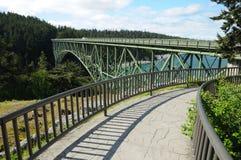 Deception pass bridge. Beautiful view of deception pass bridge, whidbey island, washington, usa stock photo