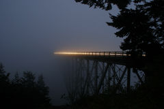 Deception Pass Bridge at Night stock images