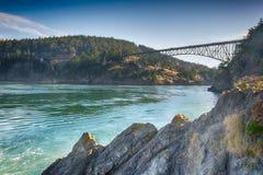 Deception Pass Bridge, WA Royalty Free Stock Photography