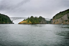 Deception Pass Bridge in Washington State. Stock Images