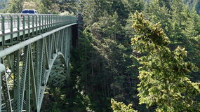 Deception Pass Bridge, Washington State, USA Royalty Free Stock Image