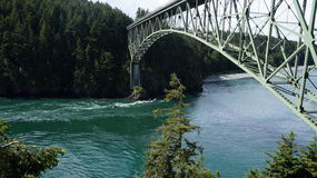 Deception Pass Bridge, Washington State, USA Stock Photo