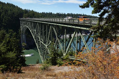 Deception Pass Bridge, Washington State, USA. Royalty Free Stock Image