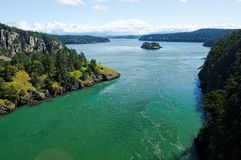 Deception pass state park washington Royalty Free Stock Image