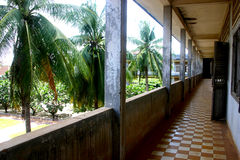 Deceptive tranquility, Tuol Sleng Prison, Cambodia Stock Images
