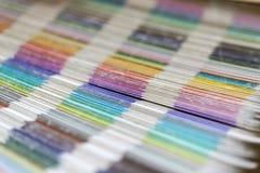 Dechado de los colores del pantone foto de archivo