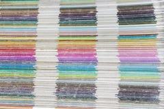 Dechado de los colores del pantone fotos de archivo