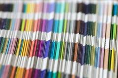 Dechado de los colores del pantone fotografía de archivo libre de regalías