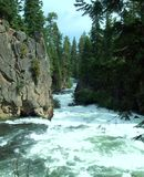 Dechutes flod Arkivfoto