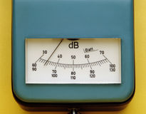 Decibel measurement. Instrument for decibel measurement stock photo