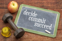 Decide, commit, succeed concept Stock Images