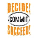 Decide commit succeed. good for print, good for goods vector illustration