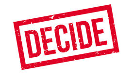 Decide rubber stamp Stock Photo