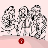 Deciding men. Ht-vector. Easy to edit, combine, download and use Royalty Free Stock Photo