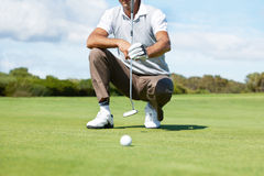 Deciding on the perfect putter Stock Image