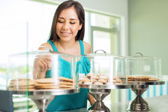 Deciding what to buy for dessert Royalty Free Stock Photos