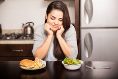 Deciding what to eat Stock Images